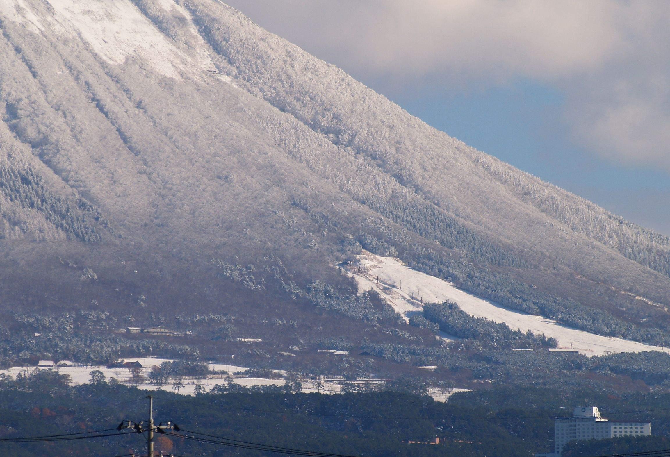 大山まきばみるくの里にも雪の恵み