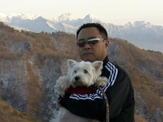 八ヶ岳-エグザイルと白犬
