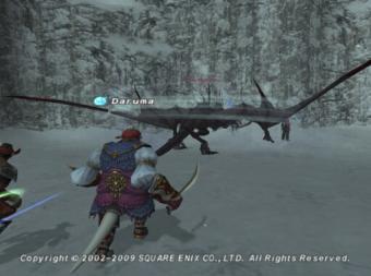 過去ザルカの龍NMと戦闘1