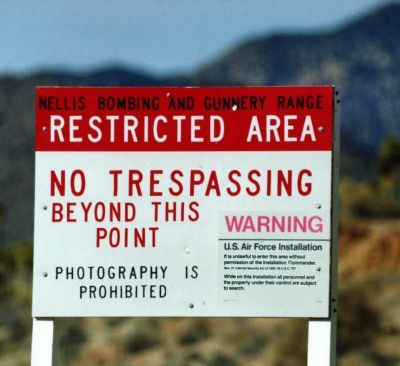 Area 51 No Photography Sign