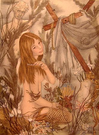 illustration for The Little Mermaid by Adrienne Segur