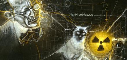 Erwin Schroedinger Bohr by David Von Bassewitz