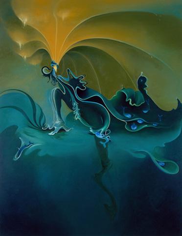 Green Sea by Inka Essenhigh