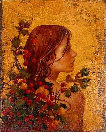 Portrait with Red Berries by James Christensen