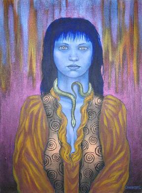 her totem's pedestal by Joseph Larkin