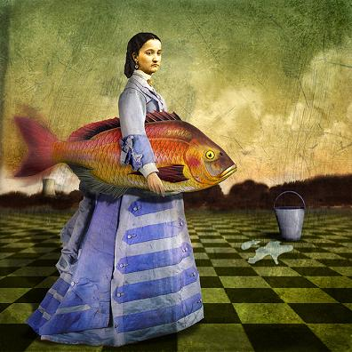 Woman who loves fish by Maggie Taylor