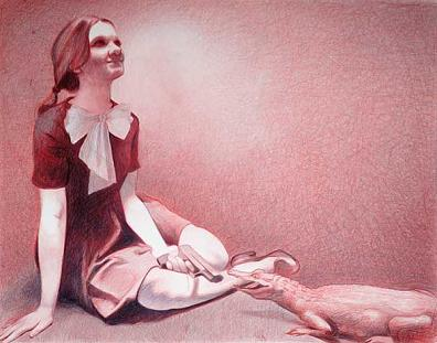 DRESSED FOR COMPANY by Mercedes Helnwein