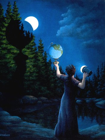 New Moon Eclipse by Rob Gonsalves