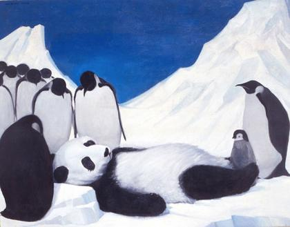 untitled (death of panda) by Wang Xingwei