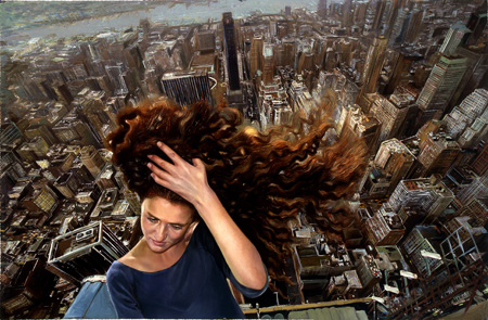 Sasha in front of the Empire State by Yigal Ozeri