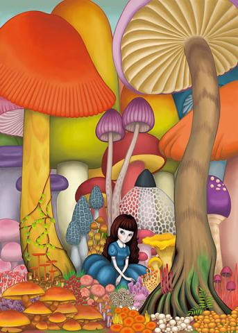 mushroom woods by mikish