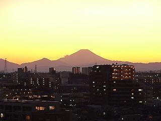 大晦日富士山