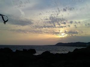 野島岬の夕日