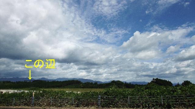 綾方面の雲