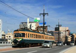 市役所前~公園口間(幸橋、2007.10.31)