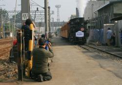 嘉義駅にて(2007.2.10)