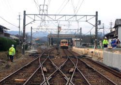 北宇智駅に停車中の電車(2007.3.10)