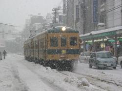 豪雪にも負けない福井鉄道