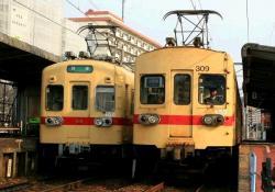 西鉄宮地岳線 和白にて(2007.3.21)