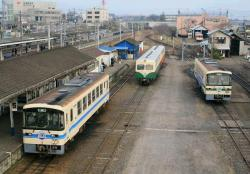 石岡駅構内(2007.3.24)