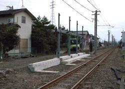 城川原~蓮町間に開設工事中の犬島新町駅(仮称)