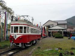 旧谷汲駅でのモ514