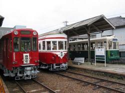 旧美濃駅にて