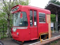 モ870形のカットボディー(旧美濃駅にて)