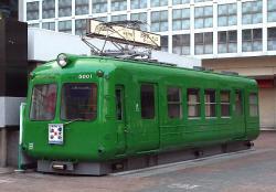 渋谷駅ハチ公口に置かれた5001カットボディー(2006.11.4)