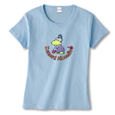 Duck アヒル アルコール ワインボトル オリジナル キャラクター デザイン Tシャツ
