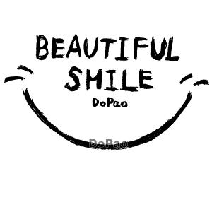 Beautiful Smile 笑顔 スマイル マーク 英語文字.png