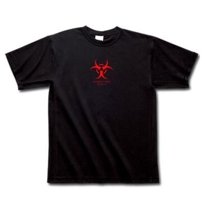 Biohazard バイオハザード 危険 ウイルス 感染 デザイン Tシャツ