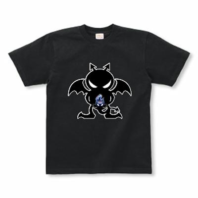 Blue Fire Evil 炎の悪魔 オリジナル キャラクター デザイン Tシャツ