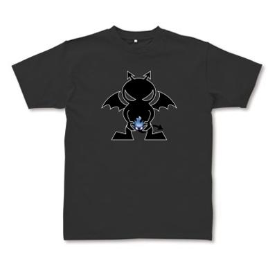 Blue Fire Evil 炎の悪魔 オリジナルデザイン Tシャツ