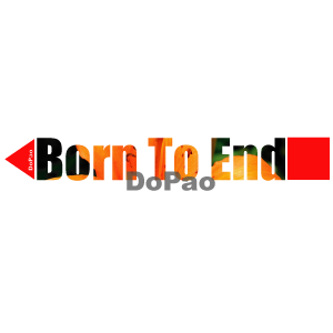 Born to end 英語文字 オリジナル 写真 花 デザイン