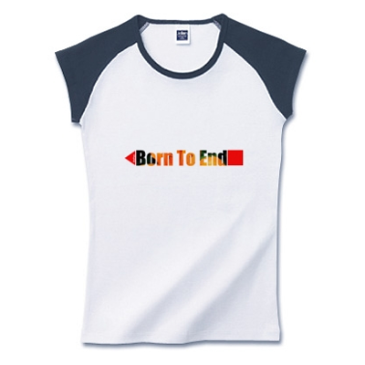 Born to end 英語文字 オリジナル 写真 花 デザイン Tシャツ