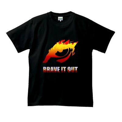 Brave It Out 信念 イーグル ファイアー オリジナル デザイン Tシャツ