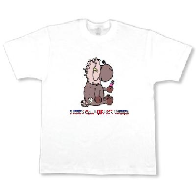 ひつじ WOOL イギリス 英語文字 オリジナル キャラクター Tシャツ
