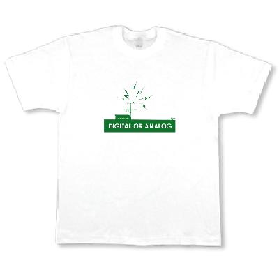 Digital Analog.png 地デジ アナログ アンテナ カラス デザイン Tシャツ