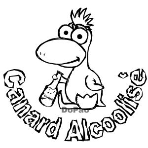 Duck アヒル アルコール ワインボトル オリジナル キャラクター デザイン