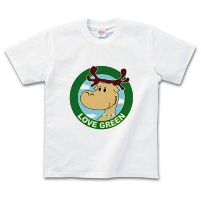 ELK Love Green 緑を愛するエルク オリジナルデザイン Tシャツ