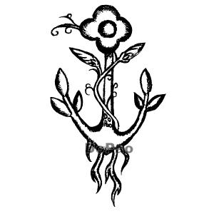 Flower Anchor イカリ 花 アサガオ オリジナル デザイン