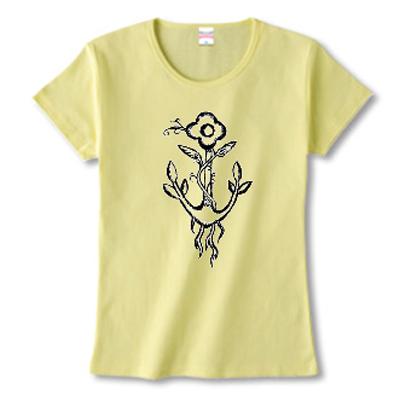 Flower Anchor イカリ 花 アサガオ オリジナル デザイン Tシャツ