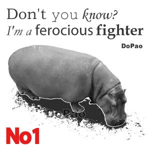 Hippopotamus カバ 凶暴 アフリカ 獰猛 オリジナル デザイン