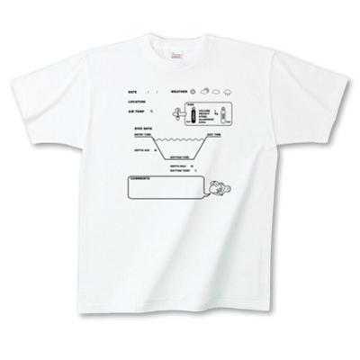 LogBook ログブック ダイビング 思い出 オリジナル デザイン キャラクター Tシャツ