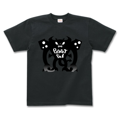 Powerful Evil 力持ちの悪魔 オリジナルデザイン Tシャツ