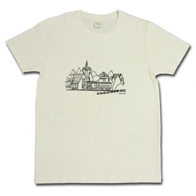 Train 電車 トレイン 風景 スケッチ オリジナル デザイン Tシャツ