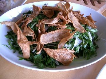 板麩入りグリーンサラダ