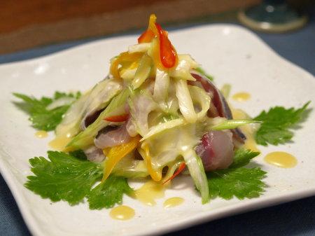 アジとセロリのサラダ味噌マヨ2