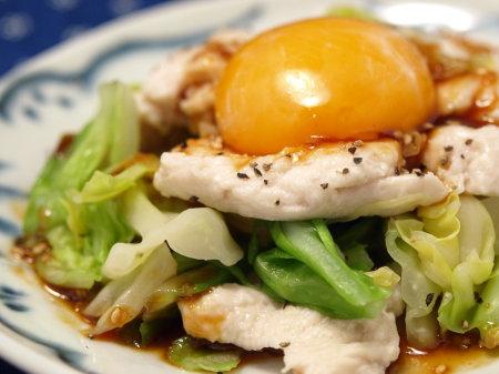 春キャベツと鶏胸肉のユッケ風5